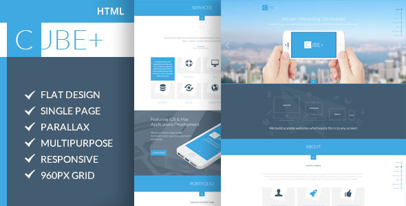 Cube+   One Page Parallax HTML Template