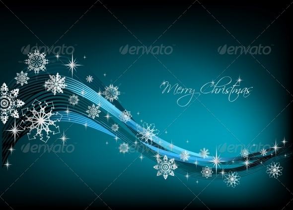 Snowflake Blue Background Vector