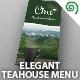 Elegant Tea House Menu - GraphicRiver Item for Sale