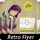 Retro Night Party Flyer - GraphicRiver Item for Sale
