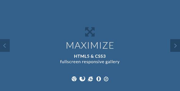 Maximize - HTML5 & CSS3 Fullscreen Image Gallery