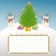 Christmas Template with Snowman and Christmas Tree - GraphicRiver Item for Sale
