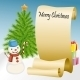Roll of Paper with Snowman and Christmas Tree - GraphicRiver Item for Sale