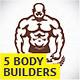 5 Bodybuilders  - GraphicRiver Item for Sale