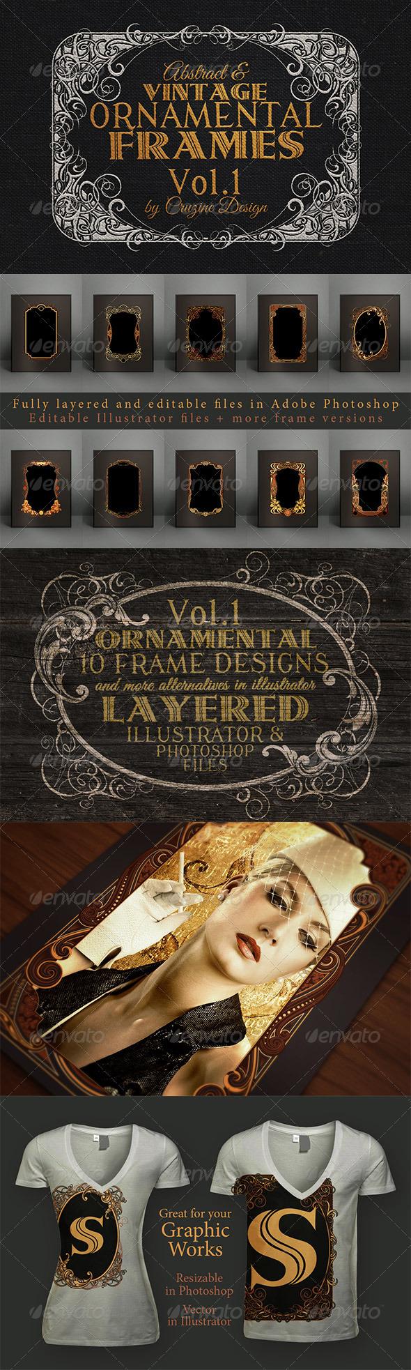 Decorative Graphic Frames & Borders - GraphicRiver
