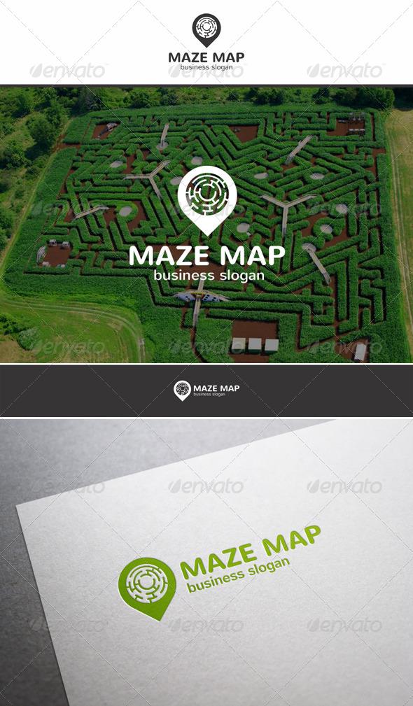 Maze Map Locator Logo