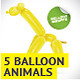 5 Balloon Animals - GraphicRiver Item for Sale