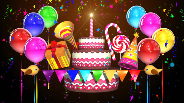 Happy Birthday Motion Graphics From Videohive