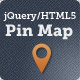 jQuery/HTML5 Pin Map - CodeCanyon Item for Sale