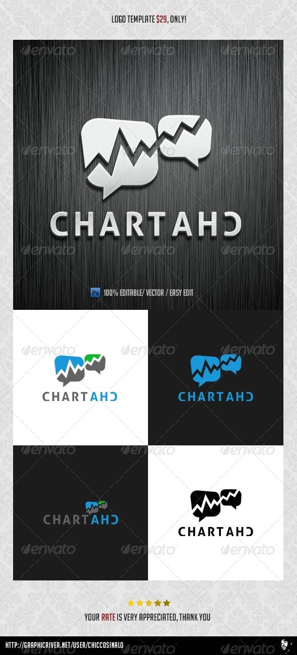 Chart Chat Logo Template