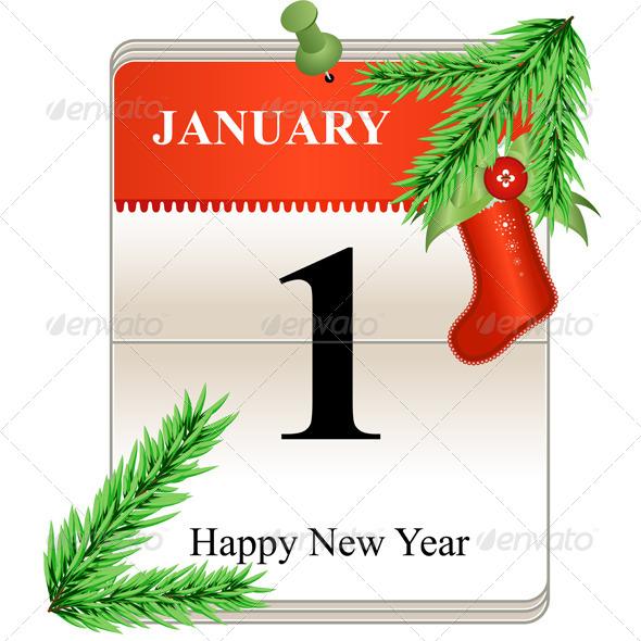 New Year Calendar Date