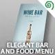 Elegant Bar / Food Menu - GraphicRiver Item for Sale