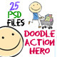 Doodle Action Hero - GraphicRiver Item for Sale