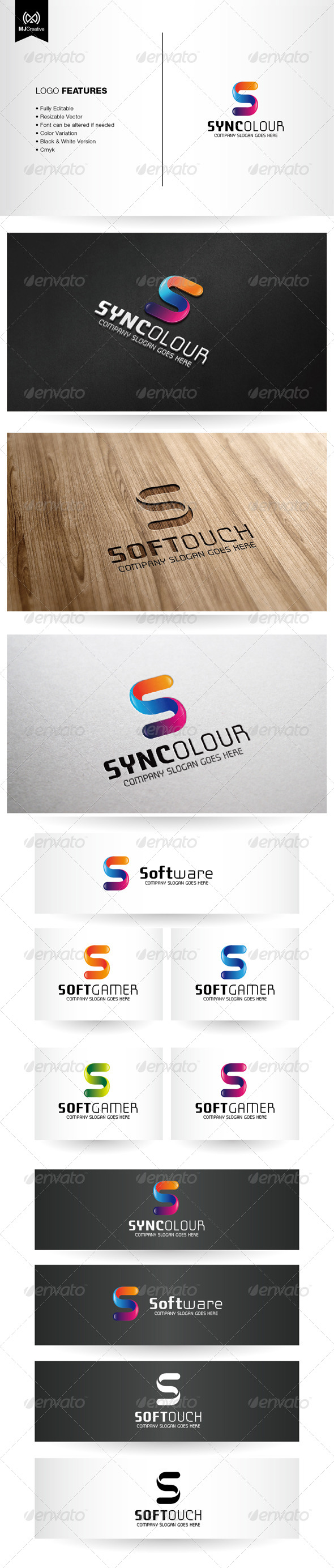 Colorful Letter S Logo