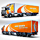 Semi-Trailer Truck Mock Up - GraphicRiver Item for Sale