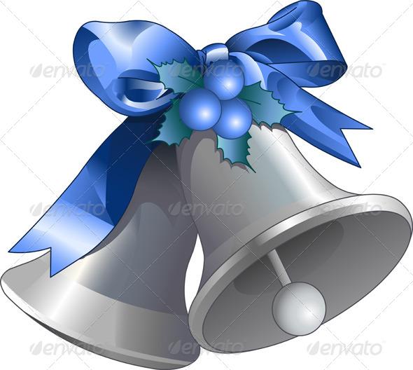 Silver Christmas Bells