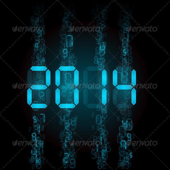 Digital 2014 Numerals.