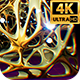 Gold Retro Abstract Background 4k