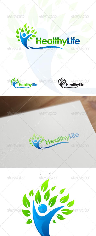 Healthy Life - Wellness & Medical Logo Design