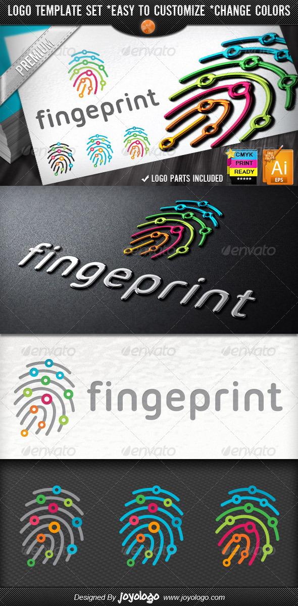 Digitally Circuits Security Finger Print Logo Temp