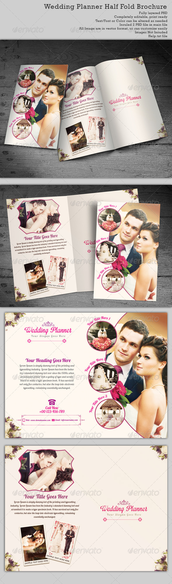 Catering Brochure Graphics, Designs & Templates
