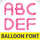 Unique Glossy Balloon Font - GraphicRiver Item for Sale