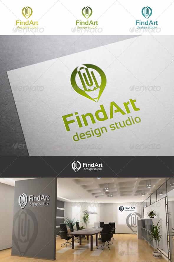 Pin Art Pencil Logo