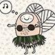 Funny Honey Bee Aloha Dancer - GraphicRiver Item for Sale