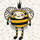 Funny Honey Queen Bee - GraphicRiver Item for Sale