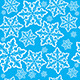 Seamless Snowflake Background  - GraphicRiver Item for Sale