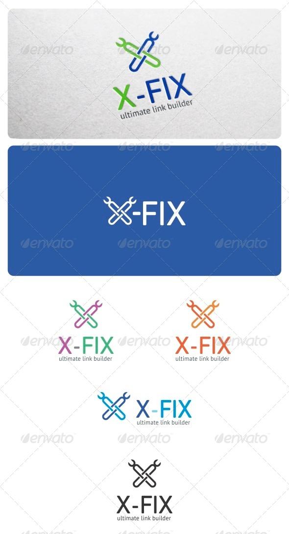 X-Fix Logo Template