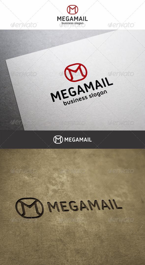 Mega Mail M Logo