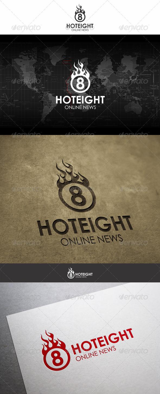 Hot Eight Fireball Logo