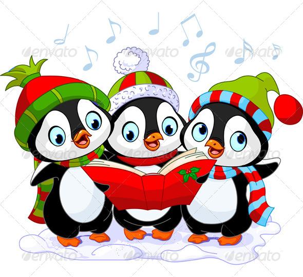Christmas Carolers Penguins
