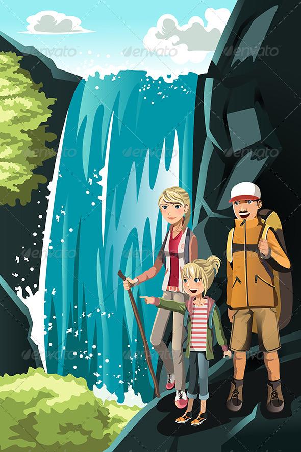 Hiking Family
