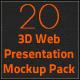 3D Web Presentation Mockup Bundle - GraphicRiver Item for Sale