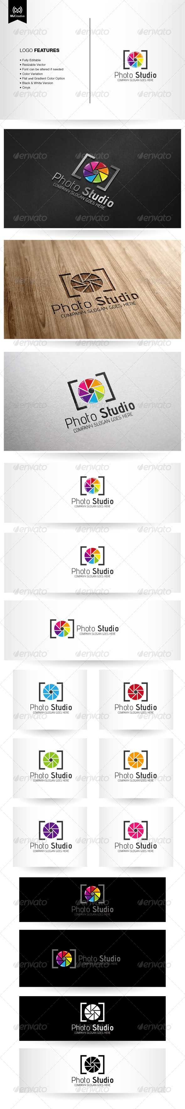 Photo and Colorful shutter Logo