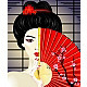 Geisha with a Fan - GraphicRiver Item for Sale