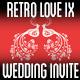 Retro Love Wedding Invite IX - GraphicRiver Item for Sale