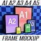 A1, A2, A3, A4, A5, Portrait Frames Mockup - GraphicRiver Item for Sale