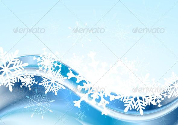 Blue Abstract Xmas Vector Design