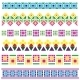 Borders with Geometrical Flowers - GraphicRiver Item for Sale