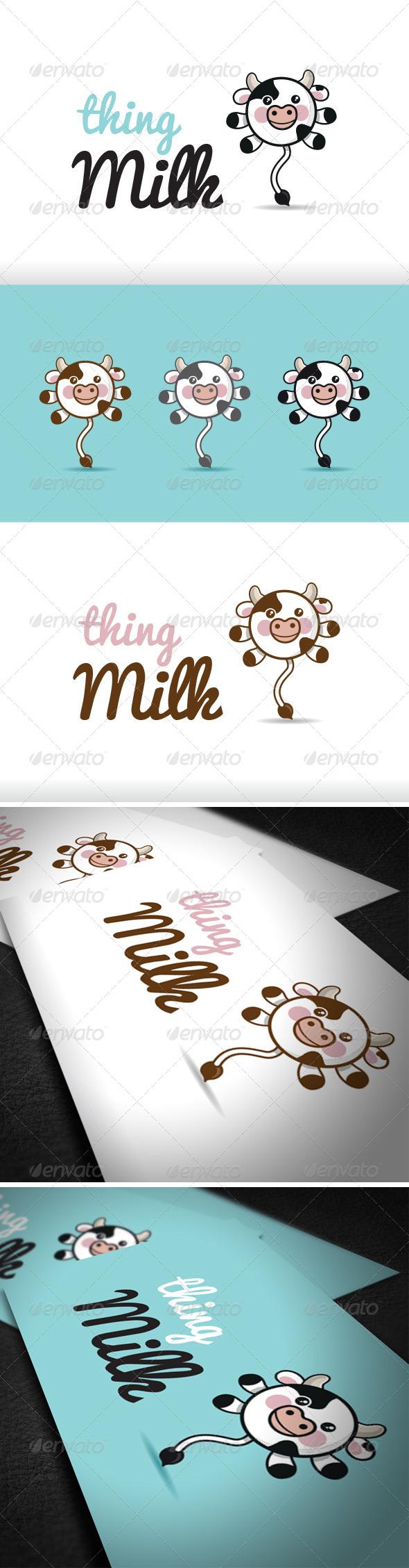 Thing Milk Logo Template