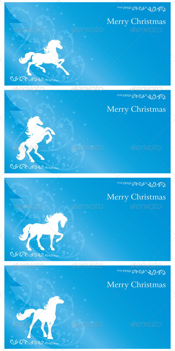 Christmas Set with Horse Silhouette