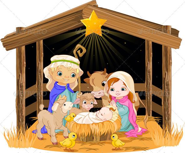 Holy Family at Christmas Night