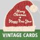 5 Vintage Christmas Cards/Backgrounds - GraphicRiver Item for Sale