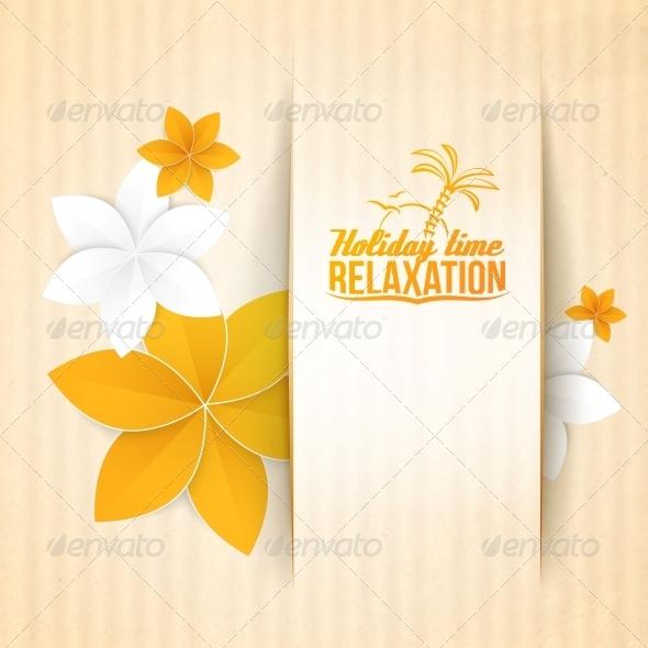 Autumn Flower on Card.