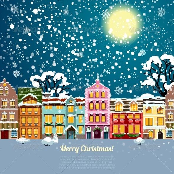 Christmas House Background