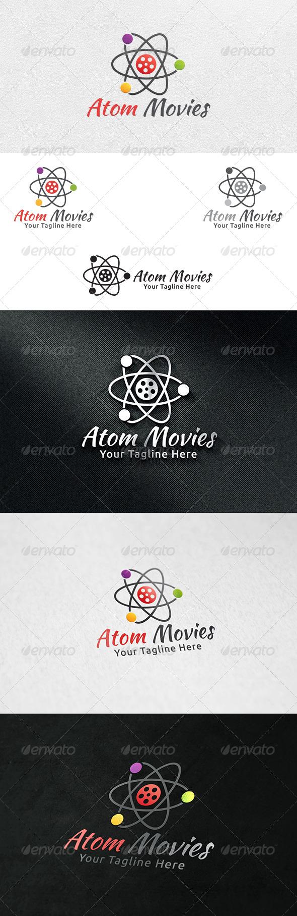 Atom Movies - Logo Template