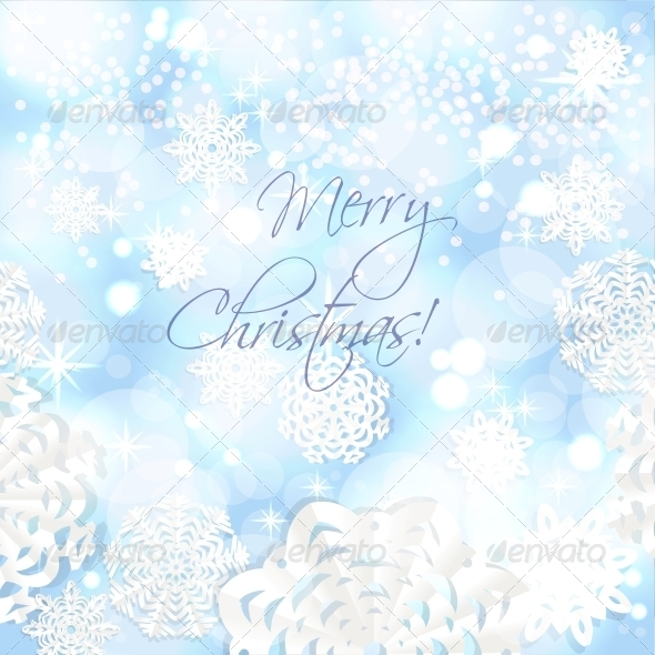 Christmas Background from Snowflakes